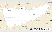 Classic Style Simple Map of Kolín