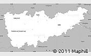 Gray Simple Map of Kolín
