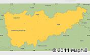 Savanna Style Simple Map of Kolín