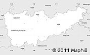 Silver Style Simple Map of Kolín