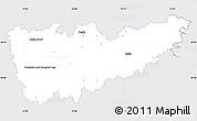 Silver Style Simple Map of Kolín, single color outside