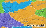 Political 3D Map of Kutná Hora
