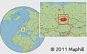 Savanna Style Location Map of Středočeský kraj