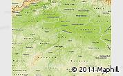 Physical Map of Středočeský kraj