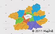 Political Map of Středočeský kraj, cropped outside