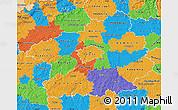Political Map of Středočeský kraj