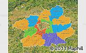 Political Map of Středočeský kraj, satellite outside