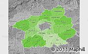 Political Shades Map of Středočeský kraj, desaturated
