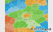 Political Shades Map of Středočeský kraj