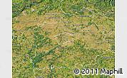 Satellite Map of Středočeský kraj