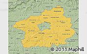 Savanna Style Map of Středočeský kraj