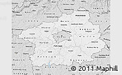 Silver Style Map of Středočeský kraj