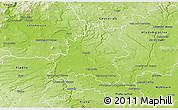 Physical 3D Map of Mělník