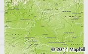 Physical Map of Mělník