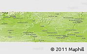 Physical Panoramic Map of Mělník