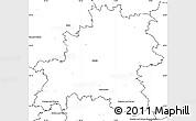 Blank Simple Map of Mělník