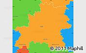 Political Simple Map of Mělník