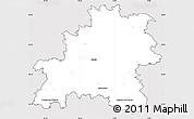 Silver Style Simple Map of Mělník, cropped outside