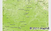 Physical Map of Mladá Boleslav