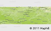Physical Panoramic Map of Mladá Boleslav