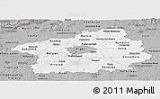 Gray Panoramic Map of Středočeský kraj