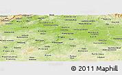Physical Panoramic Map of Středočeský kraj