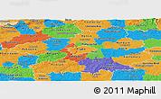 Political Panoramic Map of Středočeský kraj