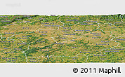 Satellite Panoramic Map of Středočeský kraj