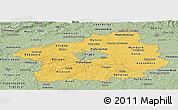 Savanna Style Panoramic Map of Středočeský kraj