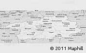 Silver Style Panoramic Map of Středočeský kraj
