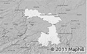 Gray 3D Map of Praha-východ