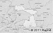 Silver Style 3D Map of Praha-východ