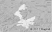 Gray 3D Map of Praha-západ
