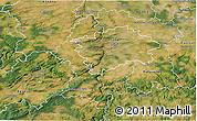 Satellite 3D Map of Praha-západ