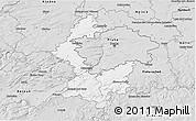 Silver Style 3D Map of Praha-západ