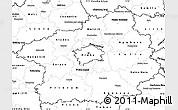 Blank Simple Map of Středočeský kraj