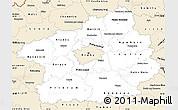 Classic Style Simple Map of Středočeský kraj