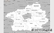 Gray Simple Map of Středočeský kraj