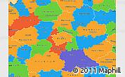 Political Simple Map of Středočeský kraj