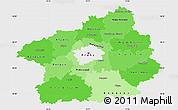 Political Shades Simple Map of Středočeský kraj, single color outside