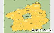 Savanna Style Simple Map of Středočeský kraj, cropped outside