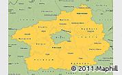 Savanna Style Simple Map of Středočeský kraj