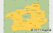 Savanna Style Simple Map of Středočeský kraj, single color outside
