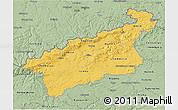 Savanna Style 3D Map of Ústecký kraj