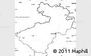 Blank Simple Map of Děčín