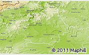 Physical 3D Map of Litoměřice