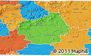 Political 3D Map of Litoměřice