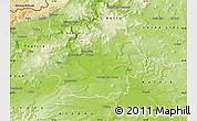 Physical Map of Litoměřice
