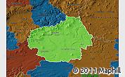 Political Map of Litoměřice, darken