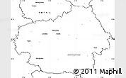 Blank Simple Map of Litoměřice